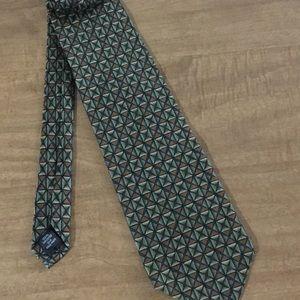 Men's tie Ziggurat silk handmade